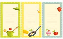 Set of old fashioned recipe card Stock Photo