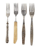 Set of old forks. Isolated Stock Photos