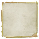 Set old grunge paper. On the white isolated background Stock Photography