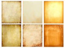Set of old grunge paper Stock Images