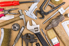 Set of old hand tools Stock Photography