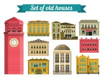 Set of Old Houses Royalty Free Stock Photography