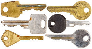 Set of old keys Royalty Free Stock Photography