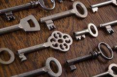 A set of old keys Royalty Free Stock Image