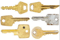 Set of old keys Royalty Free Stock Photo