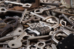 A set of old keys Royalty Free Stock Photos