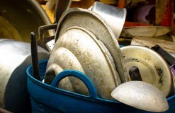 Set of old kitchen tools. Close up Royalty Free Stock Photography
