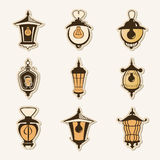 Set of old lamps Royalty Free Stock Image