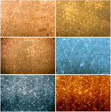 Set of old paper grunge textures Stock Image