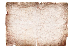 Set of old paper scroll. Intage paper scroll isolated on white Royalty Free Stock Photo