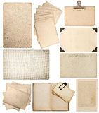 Set of old paper sheets FL. Vintage photo book pages Royalty Free Stock Image