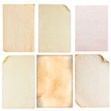 Set of old paper texture Royalty Free Stock Image