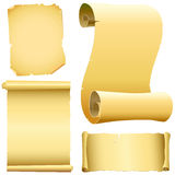 Set of old papers vector Stock Photography