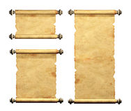 Set of old parchments Royalty Free Stock Photography