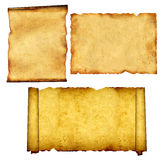Set of old parchments Royalty Free Stock Photo