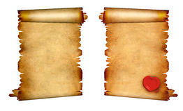 Set of old parchments. Collection of old parchments. on white background vector illustration