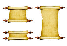 Set of old parchments Stock Photos