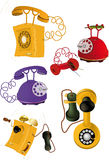 Set old phones Stock Photography