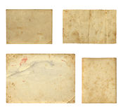 Set of  old photo paper texture Royalty Free Stock Photos