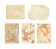 Set of  old photo paper texture Stock Photography