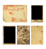 Set of  old photo paper texture Royalty Free Stock Images