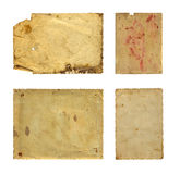 Set of  old photo paper texture Royalty Free Stock Photo