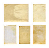 Set of  old photo paper texture isolated Royalty Free Stock Photography