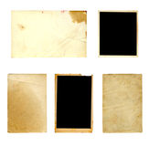 Set of  old photo paper texture isolated Royalty Free Stock Photo