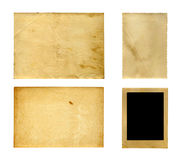 Set of  old photo paper texture isolated Stock Photography