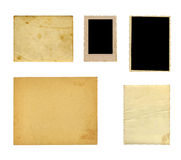 Set of  old photo paper texture Royalty Free Stock Photography