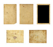 Set of  old photo paper texture isolated Stock Photos