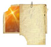 Set of Old photo paper texture isolated on background stock photo