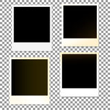 Set of old photo plastic border frames on a transparent background. Vector illustration. Set of old photo plastic frames on a transparent background. Vector Royalty Free Stock Images