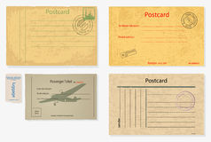 Set of old post envelopes . Stock Images