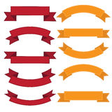 Set of old ribbon banner,Illustration Royalty Free Stock Photo