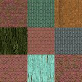 Set of old roof seamless generated textures Stock Photography
