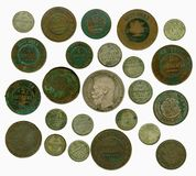 Set of old Russian coins. Obverse Stock Photo