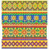 Set of Old Russian patterns Stock Image