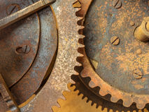 Set of old rusted gearwheels Royalty Free Stock Photos