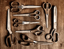 Set of old scissors Stock Image