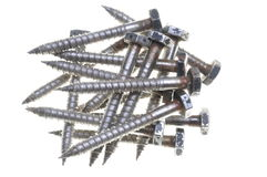 Set of old screws Royalty Free Stock Images