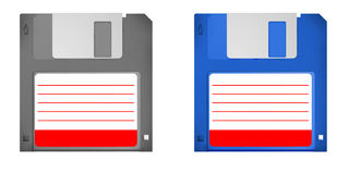 Set of 2 old skool floppy disks Stock Photos