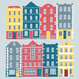 Set of old style colourful houses Royalty Free Stock Photography