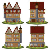 Set of the old style houses. Stock Image