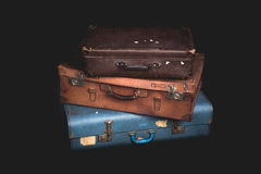Set of old suitcases, Vintage. Baggage Stock Photo