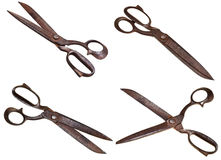 Set of old tailor scissors Stock Photos