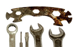 Set of old tools Stock Photography
