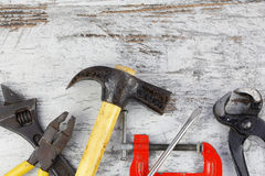 Set of old tools Royalty Free Stock Images
