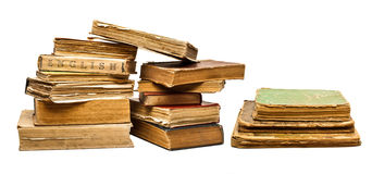 Set of old vintage books Royalty Free Stock Photo