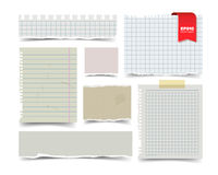 Set of old vintage notepaper sheets Royalty Free Stock Photography